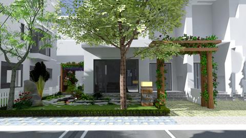 Khám phá thiết kế tiểu cảnh sân vườn xanh mát tại biệt thự Ecopark by kiến trúc Doorway ảnh tiêu biểu