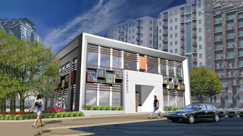 Mẫu thiết kế kiến trúc showroom trưng bày dự án 270m2 tại Hà Nội by kiến trúc Doorway ảnh tiêu biểu