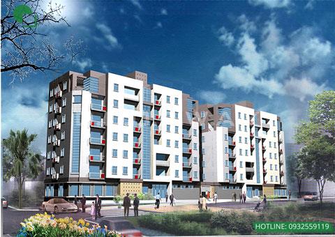 Thiết kế chung cư mini 7 tầng & 12 tầng đẹp - Chung cư Cầu Bươu by kiến trúc Doorway 7 tầng