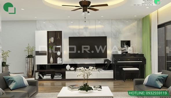 Các mẫu kệ tivi đẹp bằng gỗ cho phòng khách by kiến trúc Doorway 11