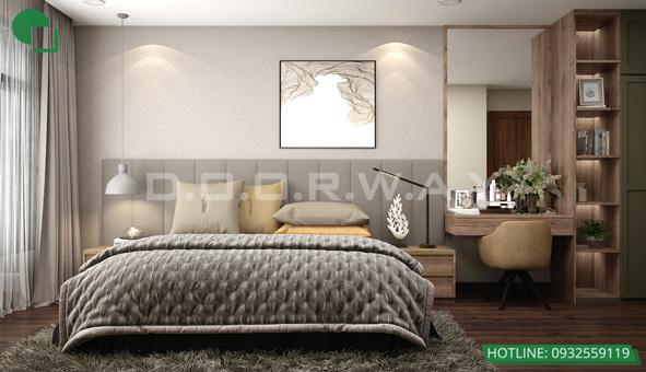 Mẫu thiết kế nội thất phòng cưới bán cổ điển 15m2 - Cô Thoa Discovery by kiến trúc Doorway 01