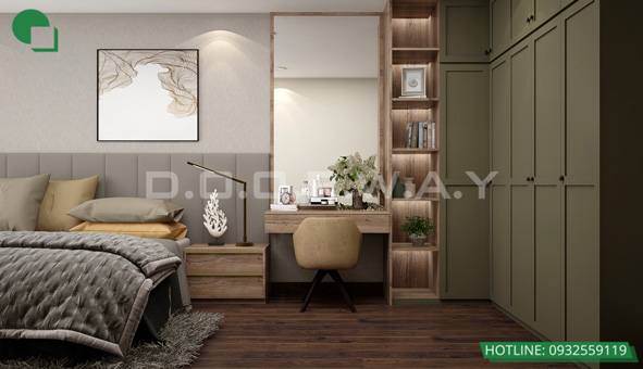 Mẫu thiết kế nội thất phòng cưới bán cổ điển 15m2 - Cô Thoa Discovery by kiến trúc Doorway 02