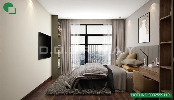 Mẫu thiết kế nội thất phòng cưới bán cổ điển 15m2 - Cô Thoa Discovery by kiến trúc Doorway 04