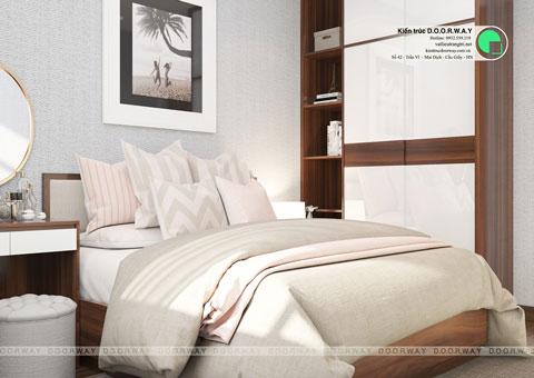 Trọn bộ nội thất phòng ngủ con gái gỗ HDF dưới 50 triệu by kiến trúc Doorway 02