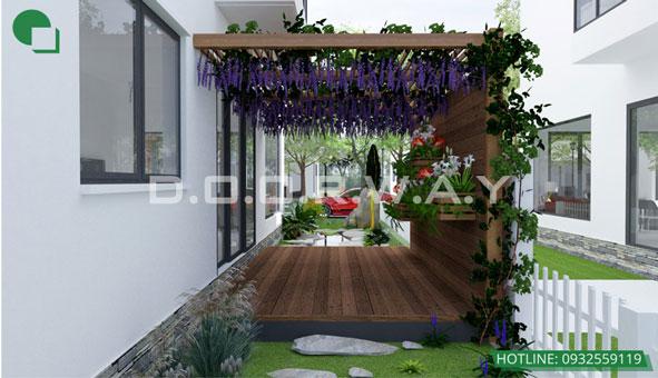 Khám phá thiết kế tiểu cảnh sân vườn xanh mát tại biệt thự Ecopark by kiến trúc Doorway 06