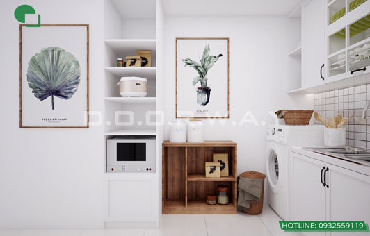 Bí quyết thiết kế căn hộ 40m2 với 2 phòng ngủ tiết kiệm diện tích by kiến trúc Doorway phối màu