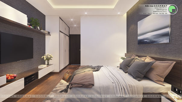 Bí quyết thiết kế căn hộ 40m2 với 2 phòng ngủ tiết kiệm diện tích by kiến trúc Doorway, tận dụng chiều cao căn hộ