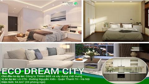 Mẫu thiết kế nội thất căn 3 phòng ngủ loại F chung cư Eco Dream by kiến trúc Doorway, ảnh tiêu biểu