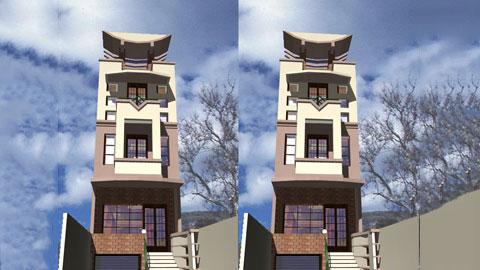 Thiết kế nhà phố 4 tầng lạ mắt 5x21m tại Hà Nội - Mr Tuyên by kiến trúc Doorway ảnh tiêu biểu