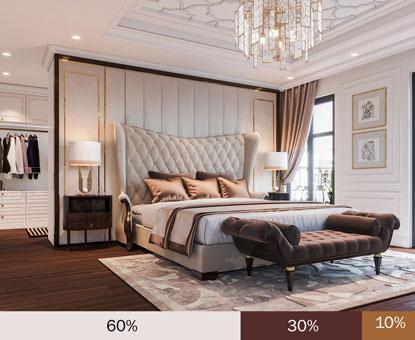 """Bảng phối màu trong thiết kế nội thất """"hot"""" nhất năm 2019 by kiến trúc Doorway, bảng Truyền thống"""