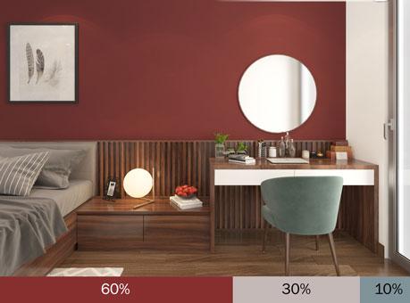"""Bảng phối màu trong thiết kế nội thất """"hot"""" nhất năm 2019 by kiến trúc Doorway, bảng Đằm thắm"""