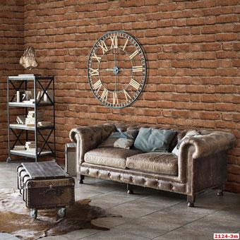 Tổng hợp những mẫu giấy dán tường đơn sắc trở thành xu hướng 2019 by kiến trúc Doorway, mẫu giấy dán tường đơn sắc giả gạch Eight mã 2124-3m