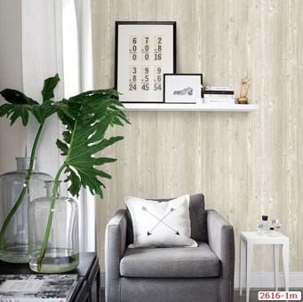 Tổng hợp những mẫu giấy dán tường đơn sắc trở thành xu hướng 2019 by kiến trúc Doorway, mẫu giấy dán tường đơn sắc giả gỗ Plenus mã 2616-1m