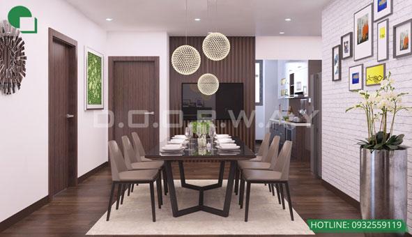 20+ mẫu thiết kế phòng ăn đẹp nhất năm 2019 by kiến trúc Doorway mẫu 04