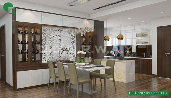 20+ mẫu thiết kế phòng ăn đẹp nhất năm 2019 by kiến trúc Doorway mẫu 08