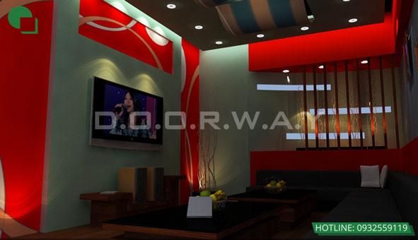 Thiết kế nội thất quán karaoke 120m2 Las Vegas Hà Nội by kiến trúc Doorway01