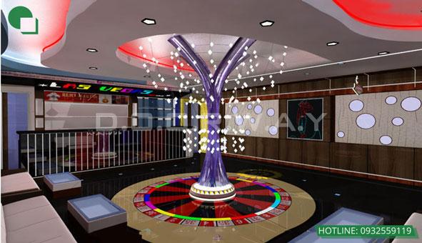 Thiết kế nội thất quán karaoke 120m2 Las Vegas Hà Nội by kiến trúc Doorway 04 góc 3