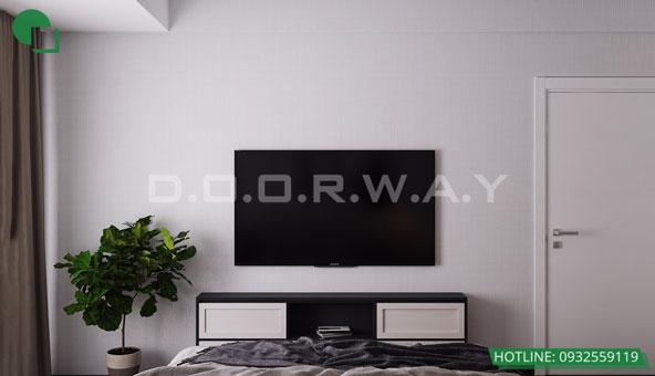 Thiết kế căn hộ chung cư Discovery 2 phòng ngủ phong cách Scandinavian by kiến trúc Doorway phòng ngủ master 04