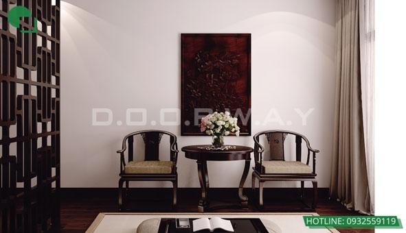 Thiết kế căn hộ chung cư Discovery 2 phòng ngủ phong cách Scandinavian by kiến trúc Doorway phòng thờ 02