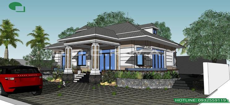 Mẫu biệt thự nhà vườn 1 tầng | Thiết kế biệt thự đẹp by kiến trúc Doorway 01