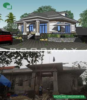 Mẫu biệt thự nhà vườn 1 tầng | Thiết kế biệt thự đẹp by kiến trúc Doorway 03