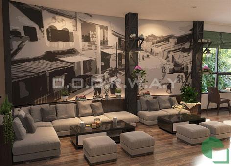 Thiết kế quán cafe 50m2 hiện đại, sang trọng giữa Hà Nội by kiến trúc Doorway 01