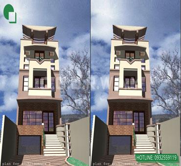 Thiết kế nhà phố 4 tầng lạ mắt 5x21m tại Hà Nội - Mr Tuyên by kiến trúc Doorway 01
