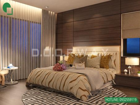 Mẫu thiết kế nội thất phòng ngủ 25m2 đẹp, sang trọng by kiến trúc Doorway 01