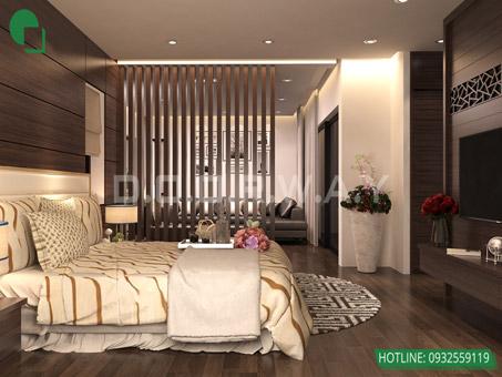 Mẫu thiết kế nội thất phòng ngủ 25m2 đẹp, sang trọng by kiến trúc Doorway 03