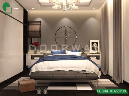Mẫu thiết kế nội thất phòng ngủ 25m2 đẹp, sang trọng by kiến trúc Doorway 05