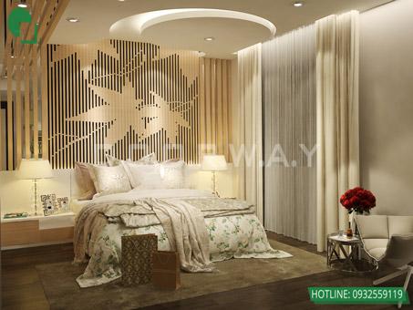 Mẫu thiết kế nội thất phòng ngủ 25m2 đẹp, sang trọng by kiến trúc Doorway 08