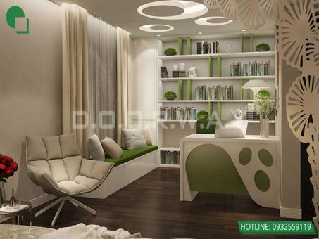 Mẫu thiết kế nội thất phòng ngủ 25m2 đẹp, sang trọng by kiến trúc Doorway 10