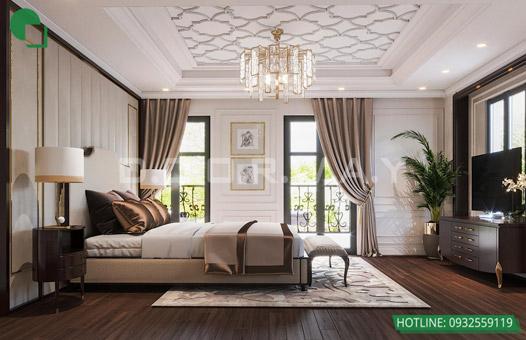 Mẫu thiết kế nội thất phòng ngủ 25m2 đẹp, sang trọng by kiến trúc Doorway 11