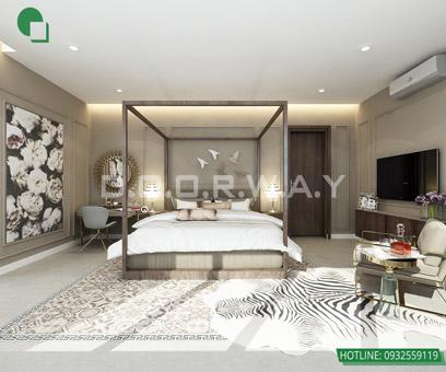 Mẫu thiết kế nội thất phòng ngủ 25m2 đẹp, sang trọng by kiến trúc Doorway 14