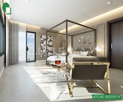 Mẫu thiết kế nội thất phòng ngủ 25m2 đẹp, sang trọng by kiến trúc Doorway 15