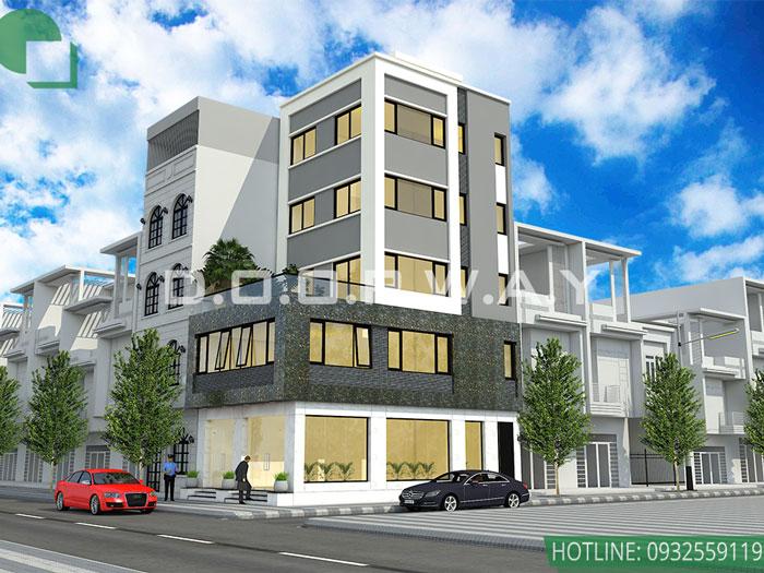 (1)Mẫu thiết kế nhà phố mặt tiền 5m hot nhất 2020