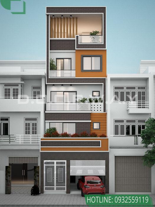 (2)Mẫu thiết kế nhà phố mặt tiền 5m hot nhất 2020