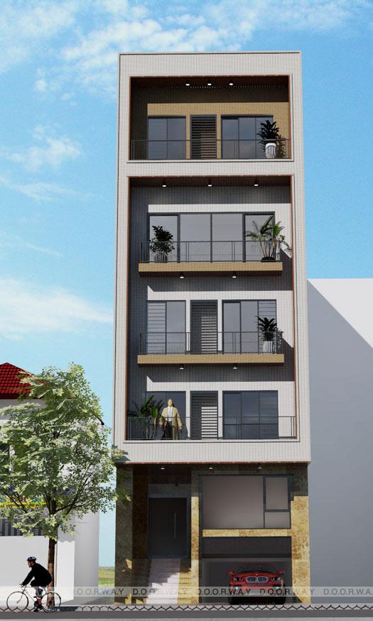 (6)Mẫu thiết kế nhà phố mặt tiền 5m hot nhất 2020