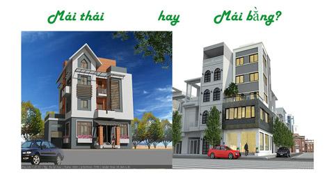 Thế nào là nhà mái thái, mái bằng? Nên chọn loại nào? by kiến trúc Doorway ảnh tiêu biểu