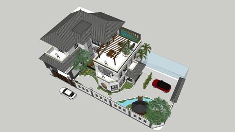 Những lưu ý khi thi công nhà mái thái đẹp, dễ dàng by kiến trúc Doorway ảnh tiêu biểu