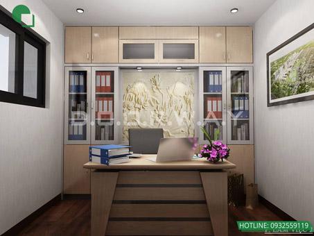 7 mẫu phòng làm việc đẹp tại nhà năm 2019 by kiến trúc Doorway 1 góc 01