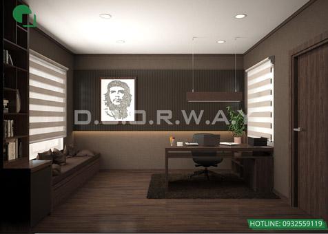7 mẫu phòng làm việc đẹp tại nhà năm 2019 by kiến trúc Doorway 4 góc 01
