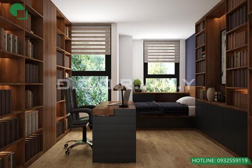 7 mẫu phòng làm việc đẹp tại nhà năm 2019 by kiến trúc Doorway 5 góc 02