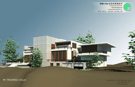 Thiết kế biệt thự 500m2 đẹp hiện đại - Biệt thự nghỉ dưỡng tại Huế by kiến trúc Doorway 01
