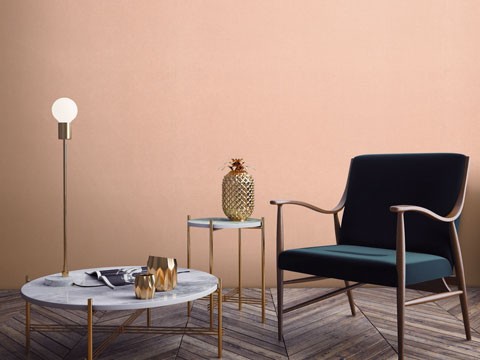 6- Mẫu giấy dán tường phòng ngủ màu hồng