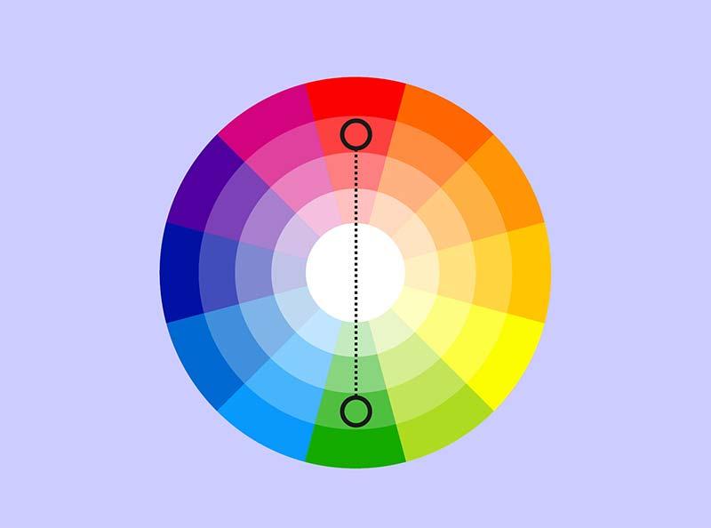 Cách phối màu tương phản trong nội thất