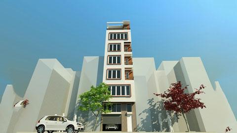 Thiết kế khách sạn 7 tầng mini mặt tiền 5m - Anh Chiến by kiến trúc Doorway ảnh tiêu biểu