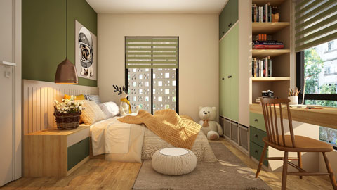 Tham khảo 5 mẫu thiết kế phòng ngủ cho bé đẹp mà an toàn by kiến trúc Doorway ảnh tiêu biểu