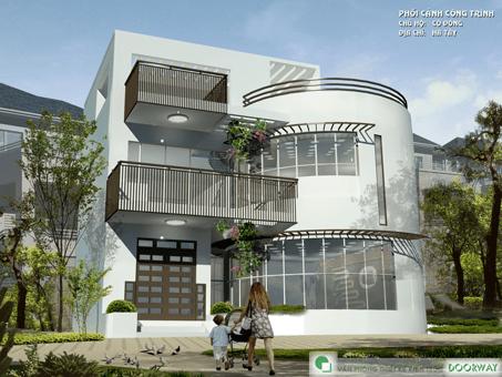 10+ mẫu thiết kế nhà ống đẹp 1 tầng, 2 tầng, 3 tầng năm 2018-2019 by kiến trúc Doorway 04