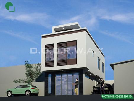 10+ mẫu thiết kế nhà ống đẹp 1 tầng, 2 tầng, 3 tầng năm 2018-2019 by kiến trúc Doorway 05